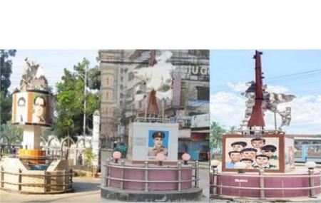 কুমিল্লা নগরীজুড়ে দৃষ্টিনন্দন শিল্পকর্ম