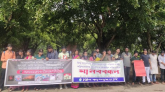সাম্প্রদায়িক সংঘাতের প্রতিবাদে চট্টগ্রাম বিশ্ববিদ্যালয়ে মানববন্ধন